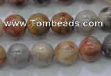 CAG6672 15.5 inches 8mm round natrual crazy lace agate beads