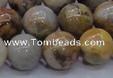 CAG6676 15.5 inches 16mm round natrual crazy lace agate beads