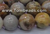 CAG6677 15.5 inches 18mm round natrual crazy lace agate beads