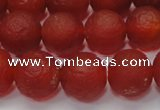 CAG6700 15 inches 8mm round red pilates agate beads