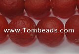 CAG6702 15 inches 12mm round red pilates agate beads