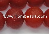 CAG6703 15 inches 14mm round red pilates agate beads