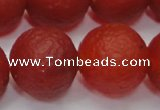 CAG6704 15 inches 16mm round red pilates agate beads
