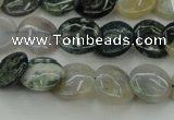 CAG6770 15.5 inches 12mm flat round Indian agate beads wholesale