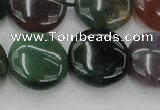 CAG6773 15.5 inches 18mm flat round Indian agate beads wholesale