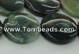 CAG6774 15.5 inches 20mm flat round Indian agate beads wholesale