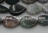 CAG6801 15.5 inches 10*14mm flat teardrop Indian agate beads