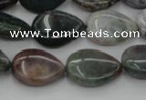 CAG6802 15.5 inches 12*16mm flat teardrop Indian agate beads