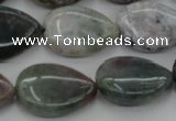 CAG6804 15.5 inches 15*20mm flat teardrop Indian agate beads