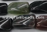 CAG6810 15.5 inches 16*22mm twisted rectangle Indian agate beads