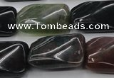 CAG6811 15.5 inches 18*25mm twisted rectangle Indian agate beads