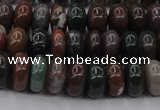 CAG6820 15.5 inches 5*10mm rondelle Indian agate beads wholesale