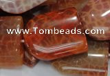 CAG684 15.5 inches 25*30mm freeform natural fire agate beads