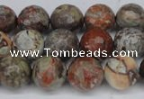 CAG7012 15.5 inches 8mm faceted round ocean agate gemstone beads