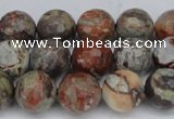 CAG7013 15.5 inches 10mm faceted round ocean agate gemstone beads