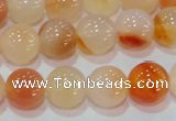 CAG7133 15.5 inches 10mm round red agate gemstone beads