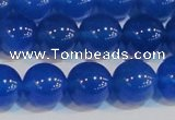 CAG7161 15.5 inches 10mm round blue agate gemstone beads