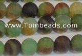 CAG7168 15.5 inches 8mm round matte rainbow agate gemstone beads