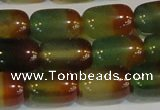 CAG7177 15.5 inches 12*16mm drum rainbow agate gemstone beads