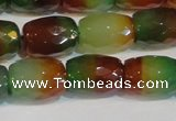 CAG7180 15.5 inches 12*16mm drum rainbow agate gemstone beads