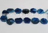 CAG7400 15.5 inches 25*25mm - 30*35mm freeform dragon veins agate beads