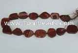 CAG7408 15.5 inches 20*25mm - 25*30mm freeform dragon veins agate beads