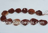 CAG7409 15.5 inches 25*30mm - 30*38mm freeform dragon veins agate beads