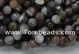 CAG743 15.5 inches 6mm faceted round botswana agate beads wholesale