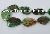CAG7431 15.5 inches 40*45mm - 45*60mm faceted freeform ocean agate beads
