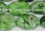 CAG7440 15.5 inches 20*30mm octagonal crazy lace agate beads