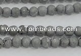 CAG7443 15.5 inches 6mm round plated druzy agate beads wholesale