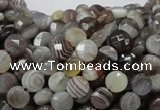 CAG749 15.5 inches 6mm faceted coin botswana agate beads wholesale