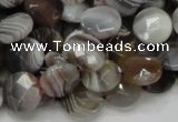 CAG752 15.5 inches 12mm faceted coin botswana agate beads wholesale