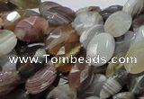 CAG755 15.5 inches 10*12mm faceted oval botswana agate beads