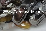 CAG760 15.5 inches 14*18mm faceted rectangle botswana agate beads