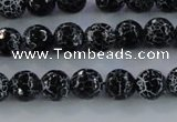 CAG7601 15.5 inches 6mm faceted round frosted agate beads wholesale