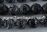 CAG7604 15.5 inches 12mm faceted round frosted agate beads wholesale