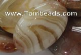 CAG785 15.5 inches 30*40mm oval yellow agate gemstone beads