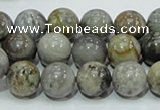 CAG7867 15.5 inches 10mm round silver needle agate beads