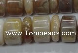 CAG787 15.5 inches 6*18mm & 12*18mm rondelle yellow agate beads