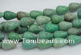 CAG7894 15.5 inches 6*10mm teardrop grass agate beads wholesale