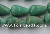 CAG7898 15.5 inches 12*16mm teardrop grass agate beads wholesale
