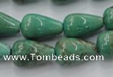 CAG7900 15.5 inches 15*20mm teardrop grass agate beads wholesale