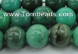 CAG7907 15.5 inches 14mm round grass agate beads wholesale