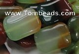 CAG792 15.5 inches 18*25mm rectangle rainbow agate gemstone beads