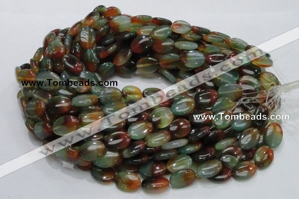 CAG795 15.5 inches 13*18mm oval rainbow agate gemstone beads