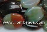 CAG798 15.5 inches 18*25mm oval rainbow agate gemstone beads