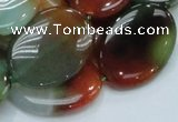 CAG799 15.5 inches 22*30mm oval rainbow agate gemstone beads