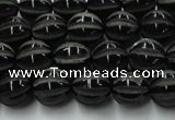 CAG8000 15.5 inches 8mm carved round black agate beads