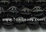 CAG8002 15.5 inches 12mm carved round black agate beads